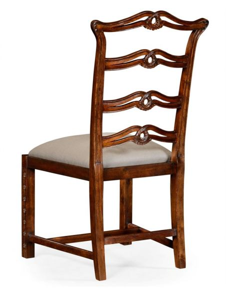 Dining Chairs Mahogany Floral Ladder Back Dining Chair