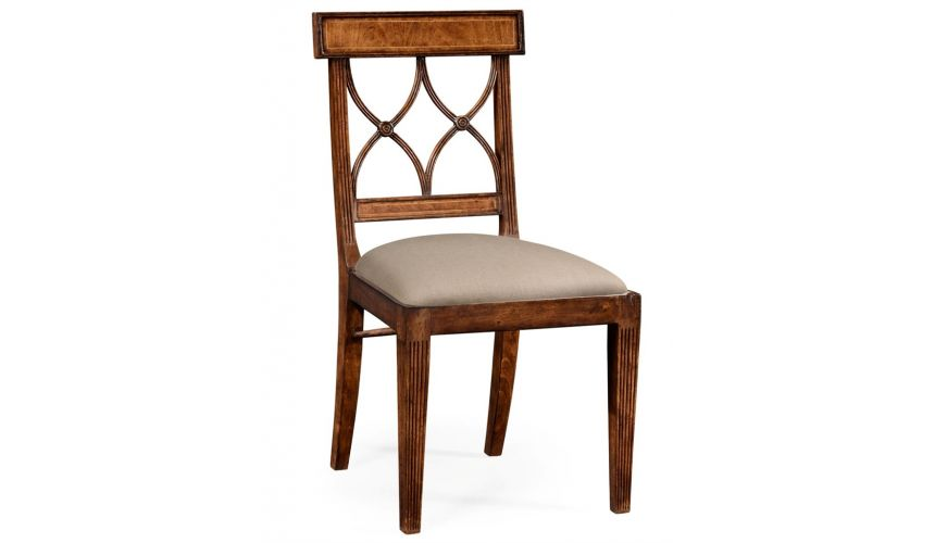 Dining Chairs Regency Style Crotch Walnut Dining Chair