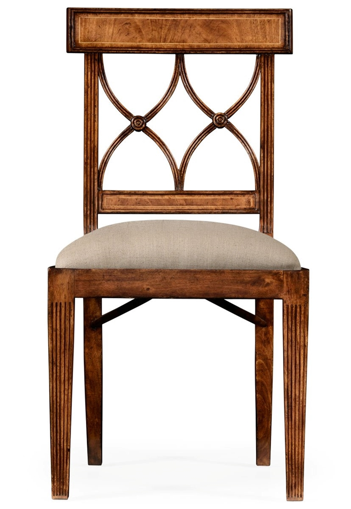 Regency style crotch walnut dining chair - Dining room chair styles ...
