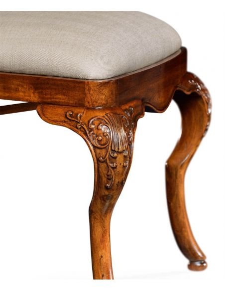 Dining Chairs Dutch Style Dining Side Chair with Floral Marquetry
