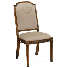 19th Century Style Full Back Upholstered Dining Chair