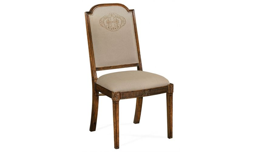 Dining Chairs 19th Century Style Full Back Upholstered Dining Chair