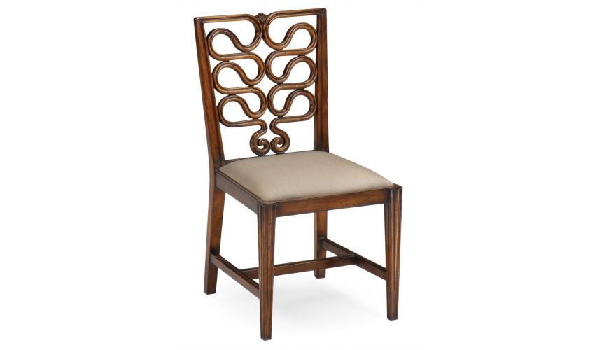 Dining Chairs Serpentine Back Side Dining Chair