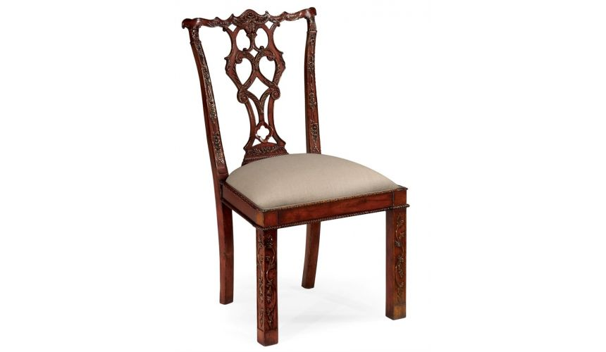 Dining Chairs Rococo cum Gothic Chippendale Side Dining Chair