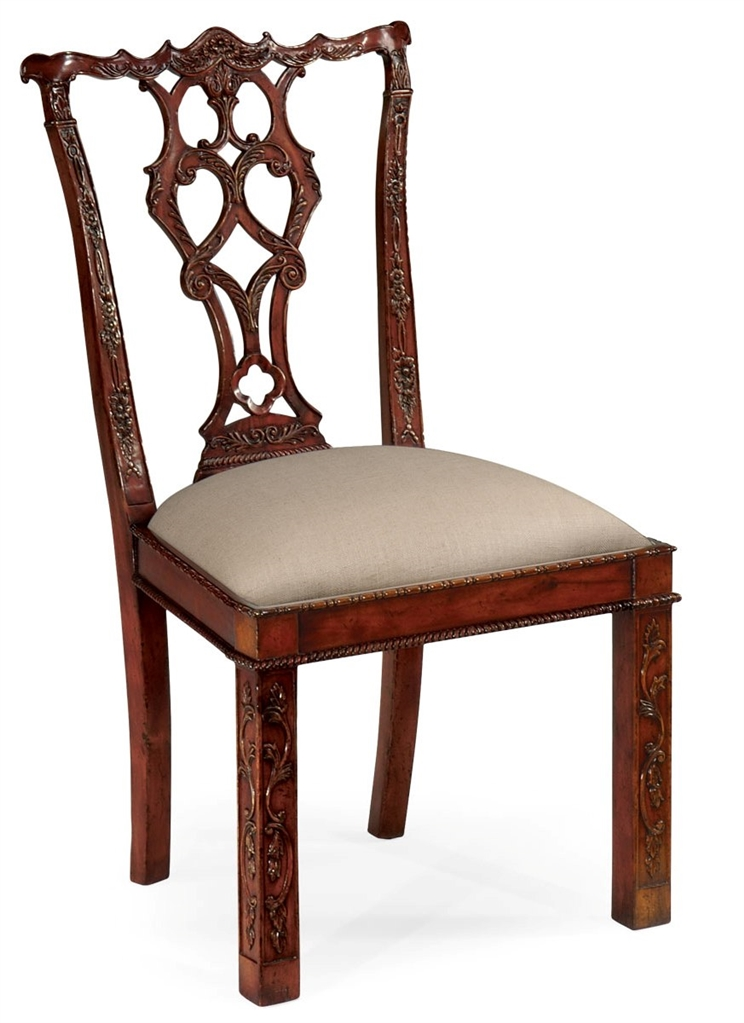 Rococo Cum Gothic Chippendale Side Dining Chair