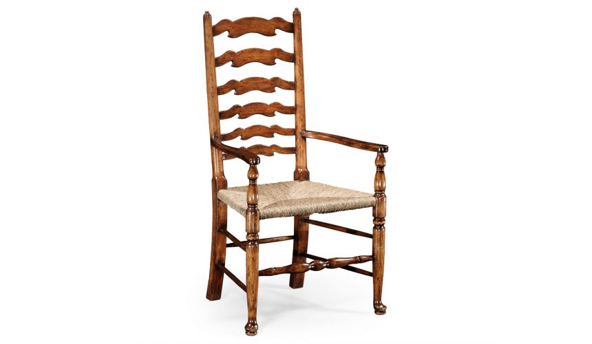 Dining Chairs Country Ladder Back Dining Arm Chair