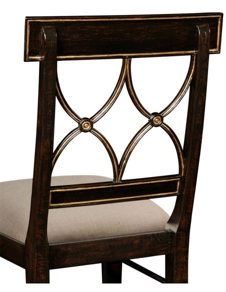 Dining Chairs Regency Ebony Color Side Dining Chair