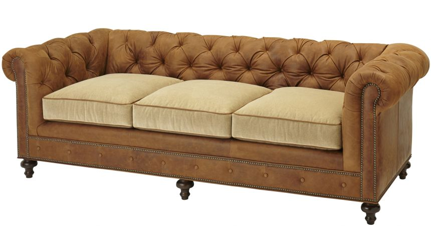 SOFA, COUCH & LOVESEAT Elegant Tufted Sofa