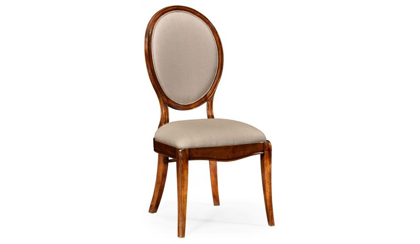 Dining Chairs Classic Oval Back Side Dining Chair