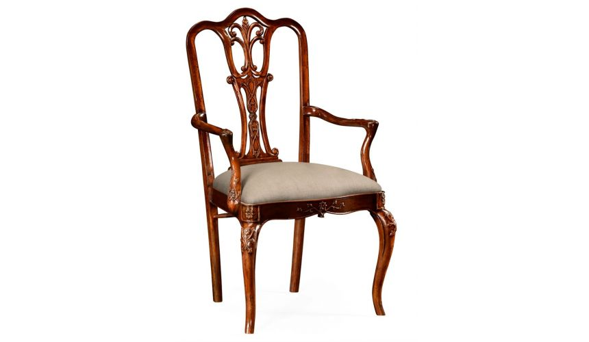 Dining Chairs 18th Century Mahogany Dining Armchair with Cabriole Legs