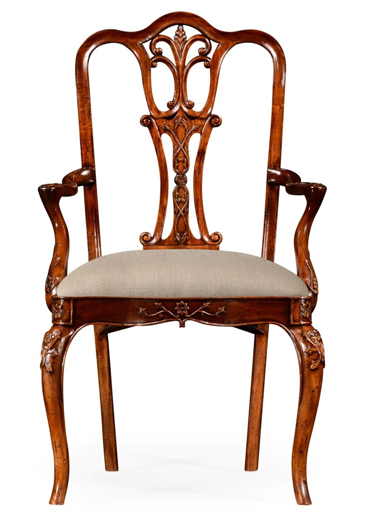 18th century mahogany dining armchair with cabriole legs for Mahogany dining room chairs