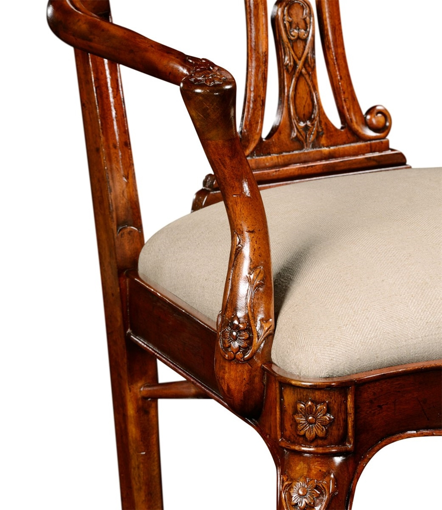 Awesome 18Th Century Mahogany Dining Armchair With Cabriole Legs Gamerscity Chair Design For Home Gamerscityorg