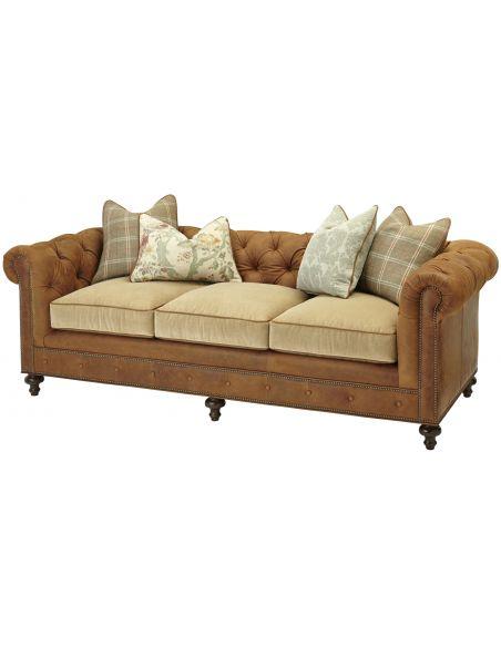 SOFA, COUCH & LOVESEAT Elegant Tufted Sofa