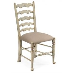 Country Style Grey Ladder Back Dining Side Chair