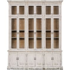 Distressed Glass-Front Cabinet