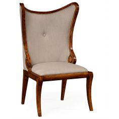 Butterfly Style Wingback Upholstered Dining Side Chair
