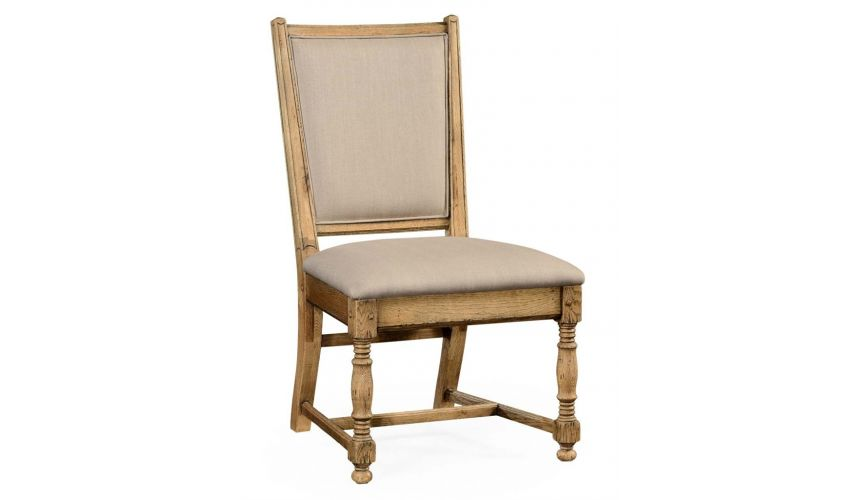 Dining Chairs Country Style Natural Oak Side Dining Chair