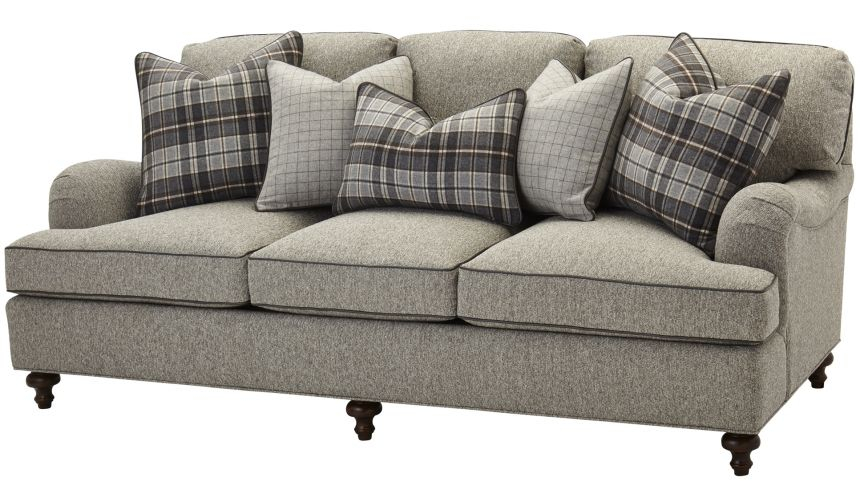 SOFA, COUCH & LOVESEAT Upholstered Sofa in Gray