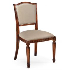 Classical Upholstered Medium Walnut Dining Chair