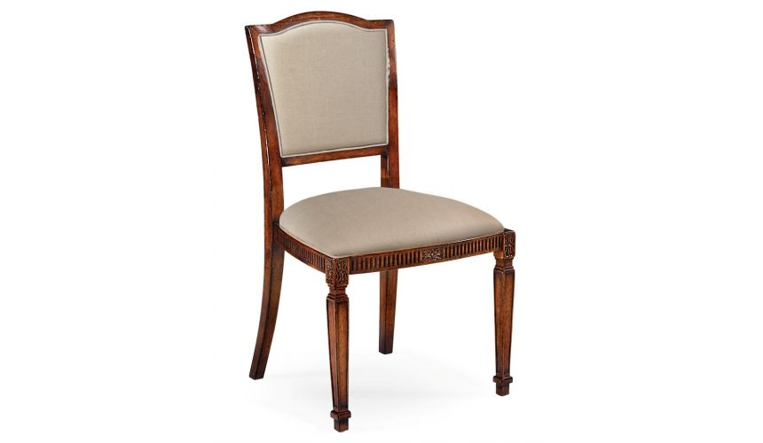 Dining Chairs Classical Upholstered Medium Walnut Dining Chair