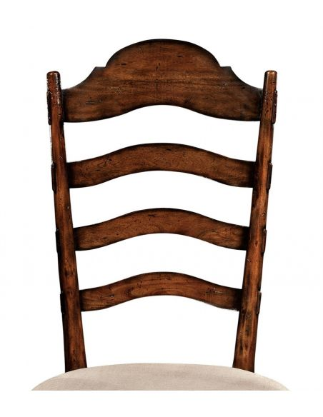 Dining Chairs Rustic Ladder Back Dining Side Chair with Cabriole Legs