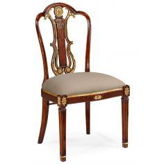 Neo-Classical Mahogany Dining Side Chair