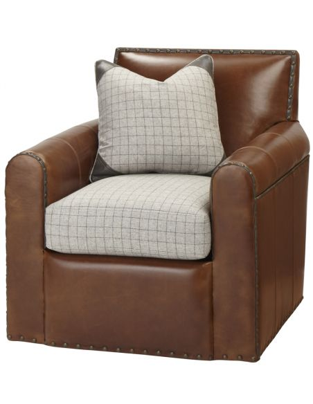Luxury Leather & Upholstered Furniture Leather Upholstered Arm Chair