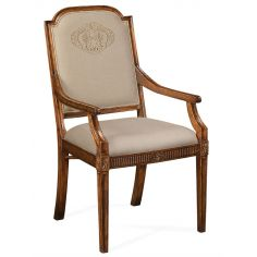 19th Century Style Dining Armchair with Golden Embroidery