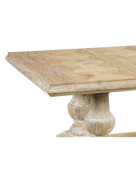 Dining Tables Heavy Distressed Limed Acacia Dining Table