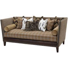 Upholstered High Back Sofa
