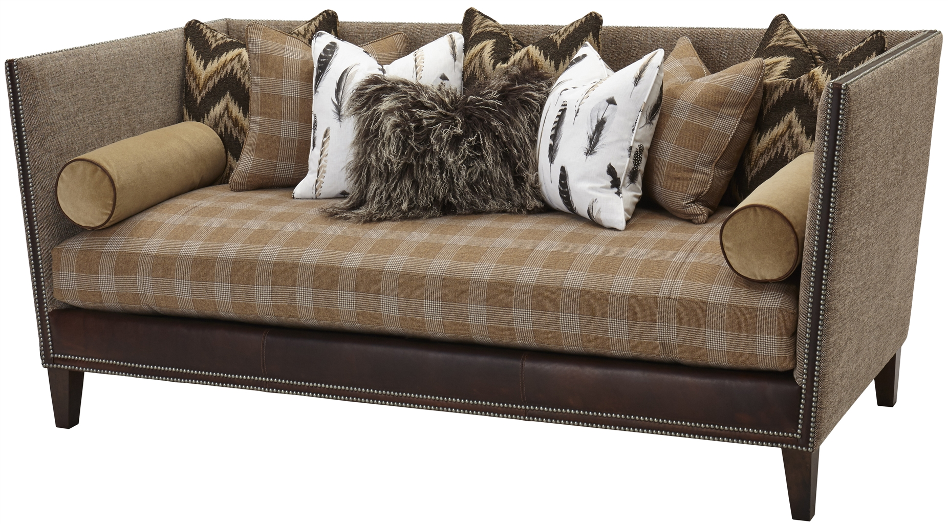 Upholstered High Back Sofa