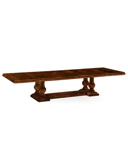 Dining Tables Country Style Dining Table with Pedestal Bases
