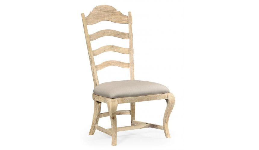 Dining Chairs Limed Acacia Ladderback Dining Side Chair