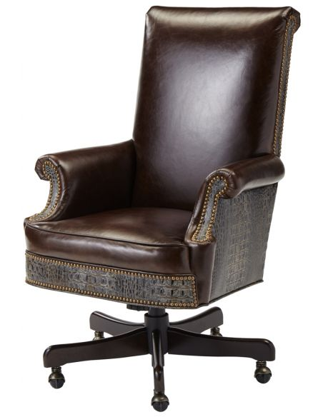 Office Chairs Upholstered Swivel Arm Chair