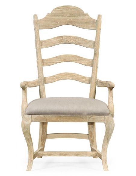 Dining Chairs Limed Acacia Ladderback Dining Armchair