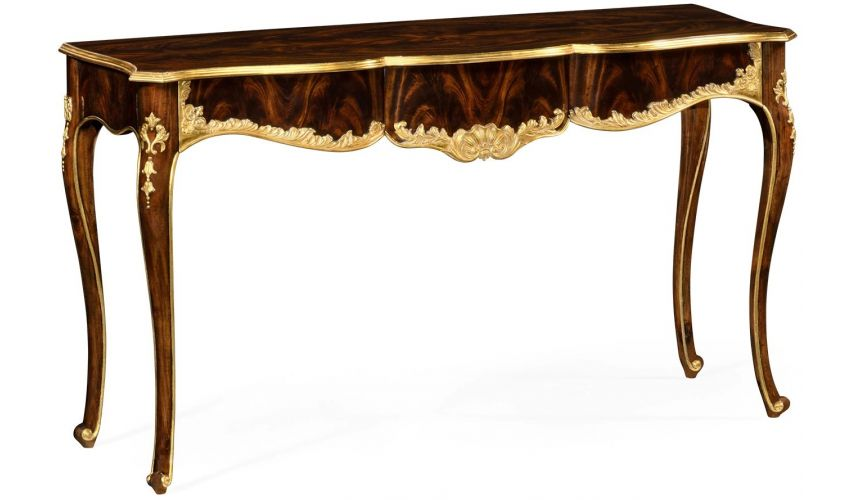 Console & Sofa Tables Antiqued Mahogany Console Table