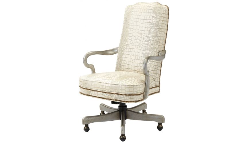 Office Chairs Nail Head Swivel Executive Chair