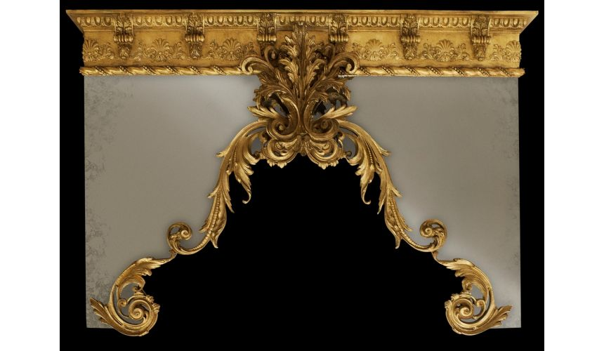 Custom Window Treatments Drapery cornice with gold finish. Custom made.