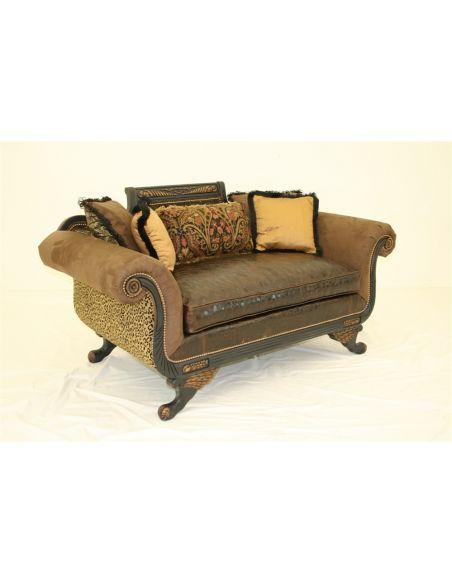 Duncan Collage Love Seat, unique sofa