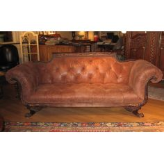 Duncan Phyfe sofa tufted high quality leather