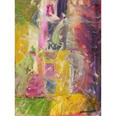 Economy 2008 original oil paintings. Artist Anne-Marie Debuissert