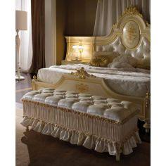 Elegant bed set. Luxury furniture.
