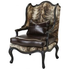Upholstered Wingback Chair with Nail Head Trims