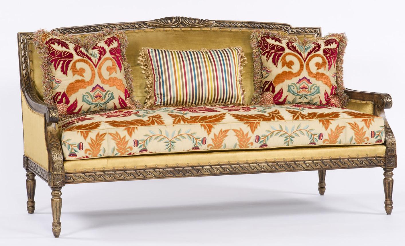 Elegant Wood Carved Frame Sofa