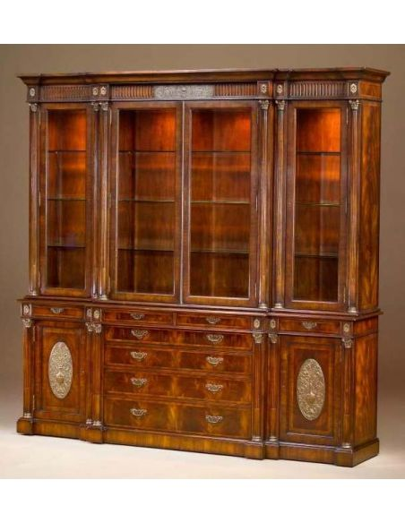 Breakfronts & China Cabinets Elite furnishings. Mahogany dining room breakfront or library bookcase.