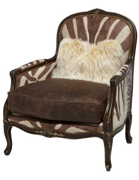 Luxury Leather & Upholstered Furniture Upholstered High Arm Chair