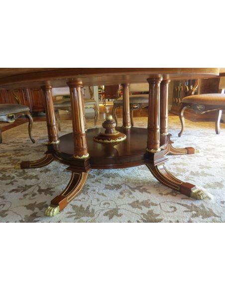 Handmade Italian Luxury Furniture 11 Exquisite Empire style dining set. Luxury dining furniture.