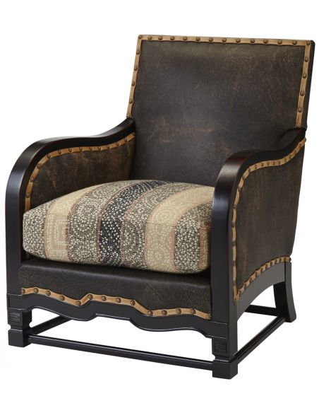 Luxury Leather & Upholstered Furniture Nail Head Club Chair