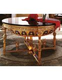 Empire style round foyer table