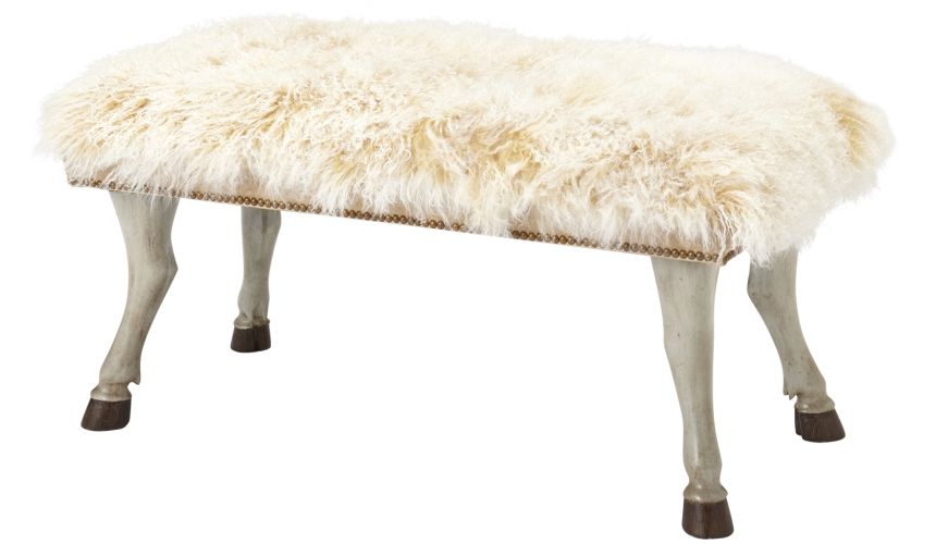 Luxury Leather & Upholstered Furniture Furry Bench